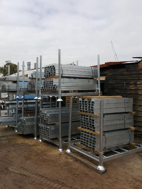 galvanised steel retaining wall posts